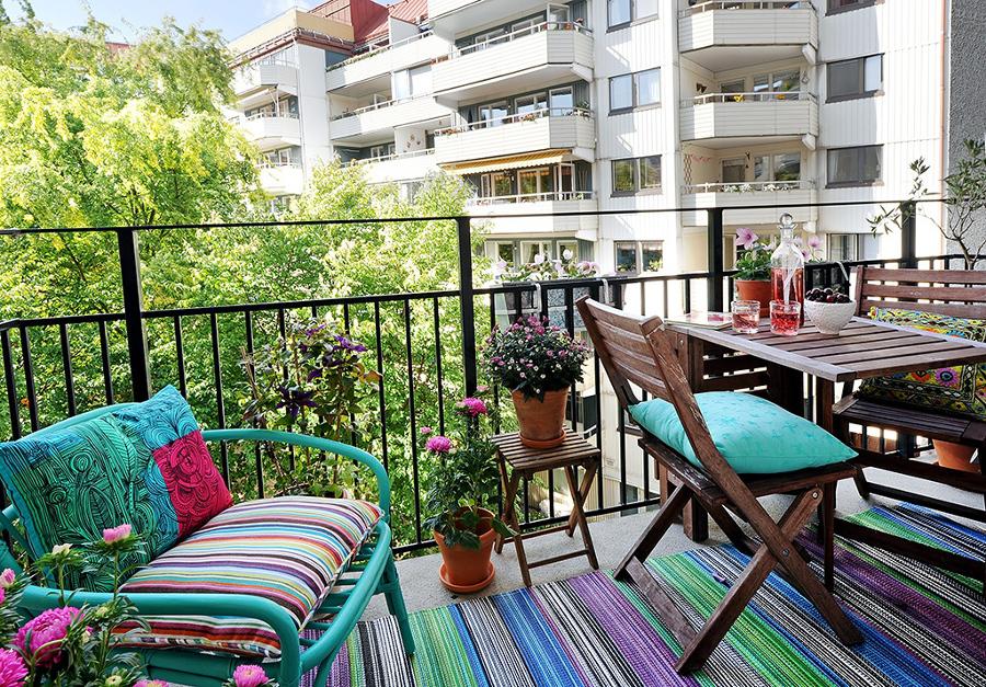 cómo decorar un balcon
