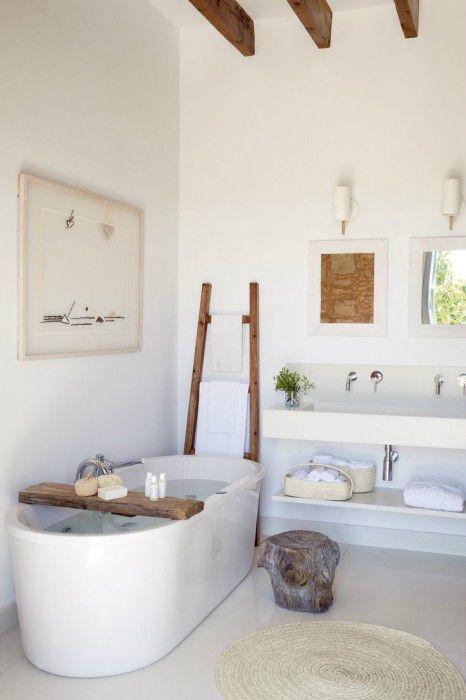 baño rustico moderno