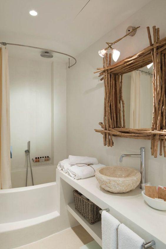 decorar baño rustico moderno