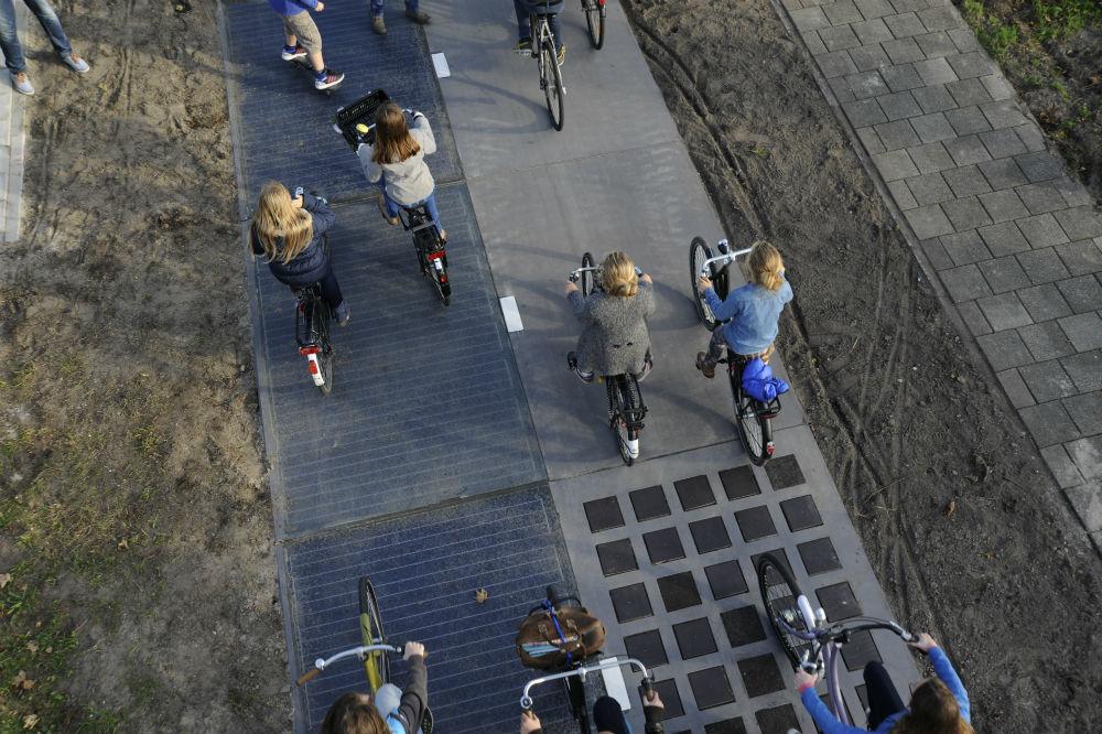 Carriles bici solares que generan energía