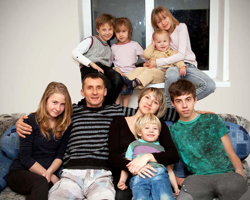 Cómo organizar un baño para una familia numerosa