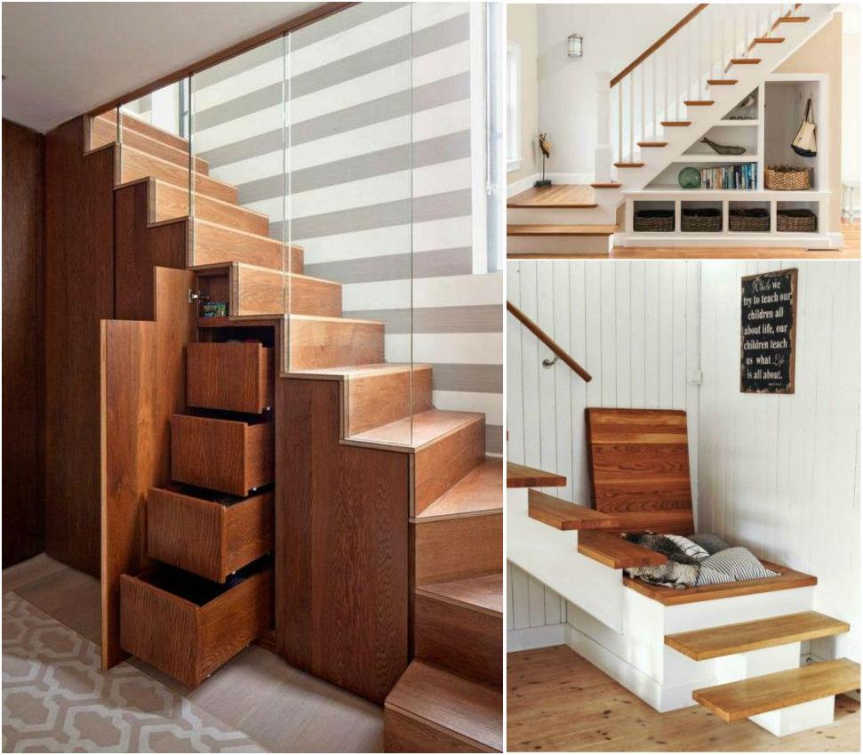 almacenaje en las escaleras