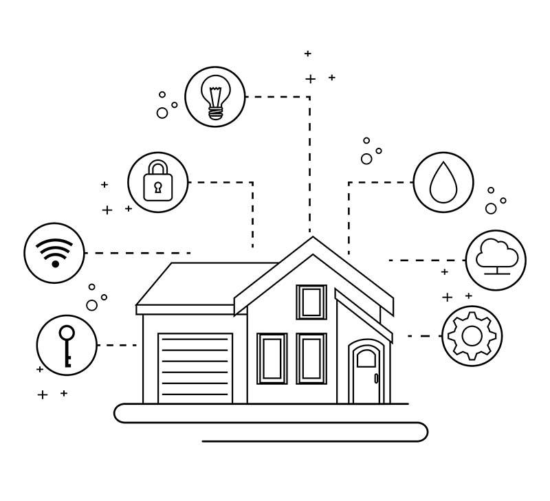 Casas conectadas a la red